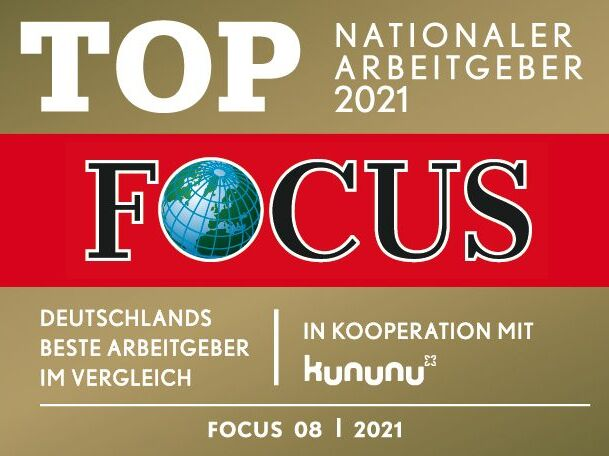 Focus Siegel Top Nationaler Arbeitgeber 2021